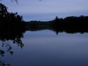 The morning after the big storm Lower Clam Lake WI was quiet.