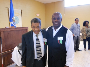 Norman Hill (left) with Nacarci Feaster, president of Milwaukee Chapter of APRI